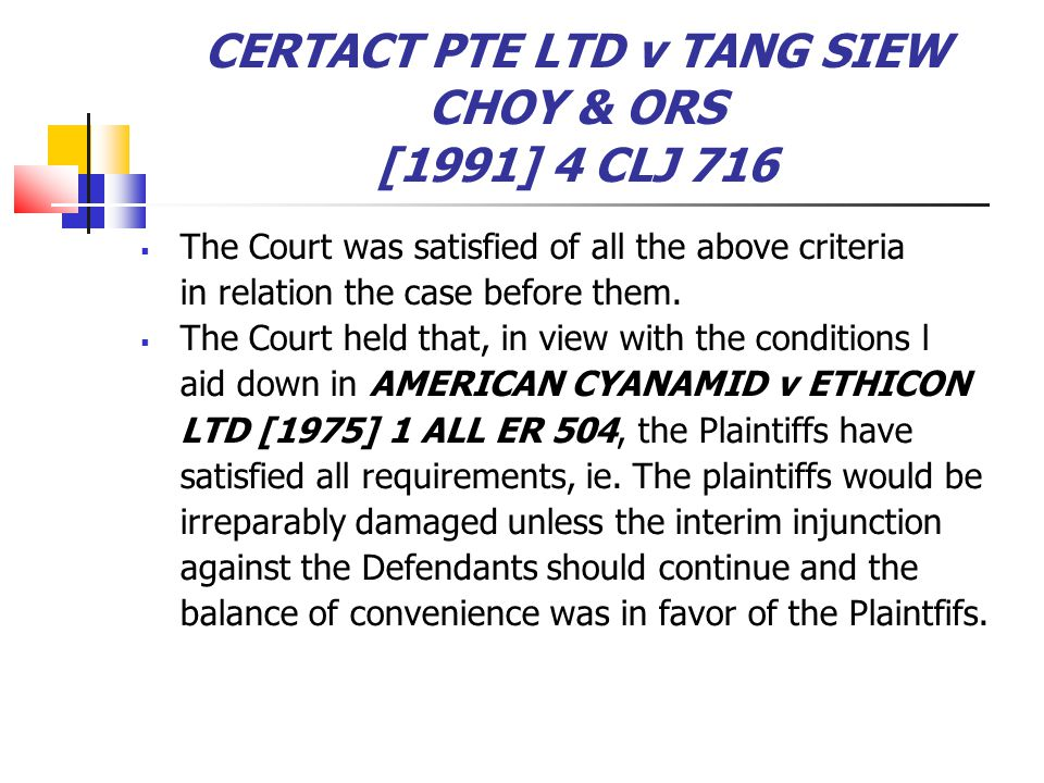 CERTACT PTE LTD v TANG SIEW CHOY & ORS [1991] 4 CLJ 716